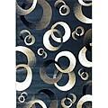 Generations Blue Abstract Circle Rug - 3'9 x 5'1