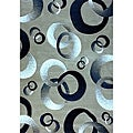 Generations Champagne Abstract Circle Rug