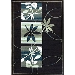Generations Chocolate Floral Rug (5'2 x 7'2)