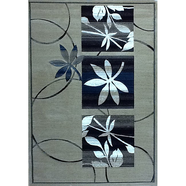 Generations Champagne Floral Rug (5'2 x 7'2)