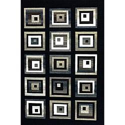 Generations Black Blocks Rug - 3'9 x 5'1 - Thumbnail 0