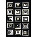 Generations Black Blocks Rug - 3'9 x 5'1
