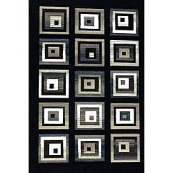 Generations Black Blocks Rug (7'9 x 10'5)
