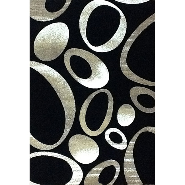 Generations Black Elliptic Rug - 3'9 x 5'1