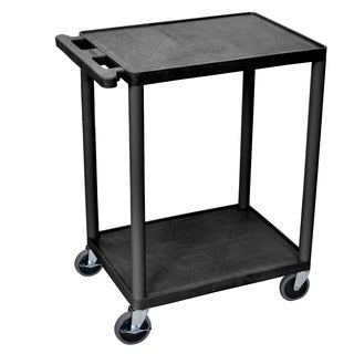 Offex HE32-B Black 2-shelf Utility Cart