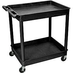 Offex TC11-B 2-shelf Large Tub Cart