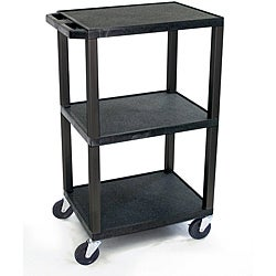 Offex 42-inch Black Tuffy Utility Cart with Electrical Attachment