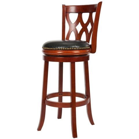 Safavieh Ulster Light Cherry Finish 29-inch Swivel Bar Stool
