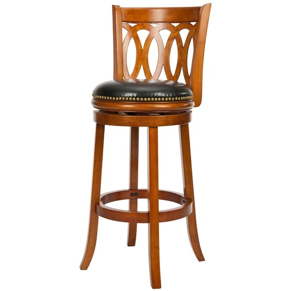 Safavieh 29-inch Ulster Dark Oak Finish Swivel Bar Stool