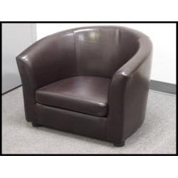 Montana Faux Leather Arm Chair - Thumbnail 2