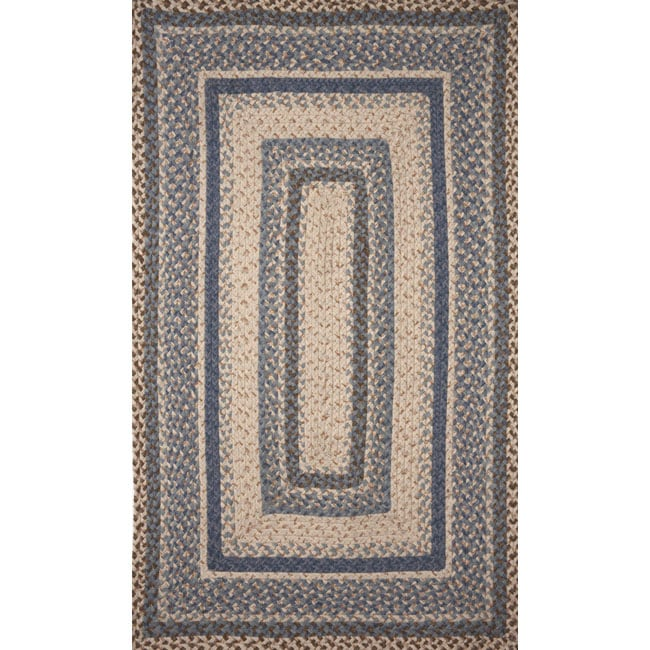 Ombre Demin Wool Rug (5' x 8')