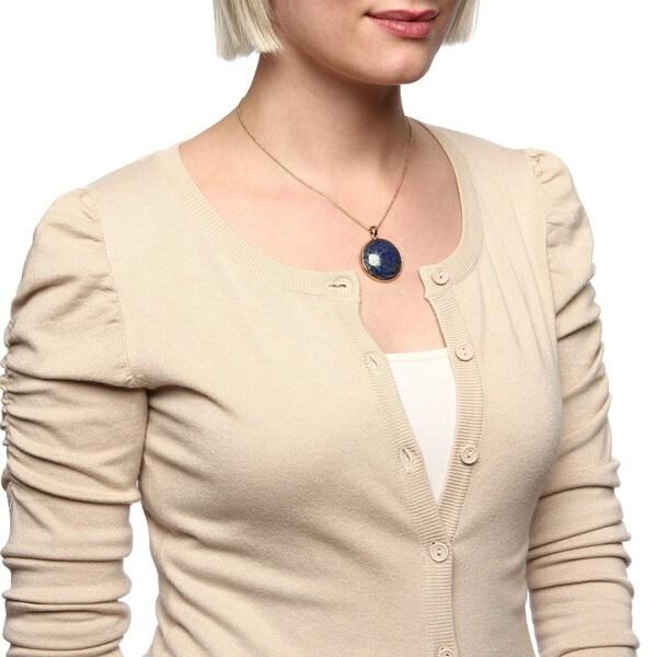 Amrita Singh 18k Goldplated Gemstone Pendant Necklace