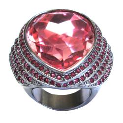 Michelle Monroe Tungsten Pink Crystal Ring - Thumbnail 1