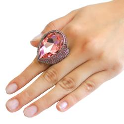 Michelle Monroe Tungsten Pink Crystal Ring - Thumbnail 2
