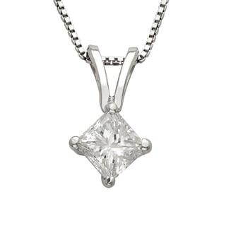 Montebello Platinum 1/2ct TDW Princess-cut Diamond Necklace