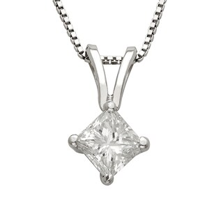 Montebello Platinum 1/4ct TDW Princess-cut Diamond Necklace