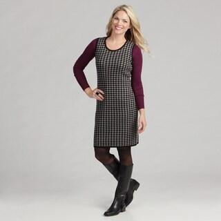 Calvin Klein Women's Sleeveless Houndstooth Sweater Dress FINAL SALE