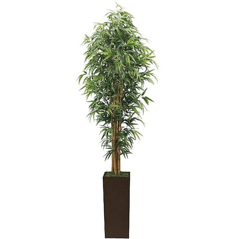 Vintage Home 7-foot High End Realistic Silk Bamboo Tree with Planter - 84""