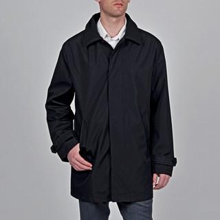 Geoffrey Beene Men's 'Bailey' Black Trench Coat
