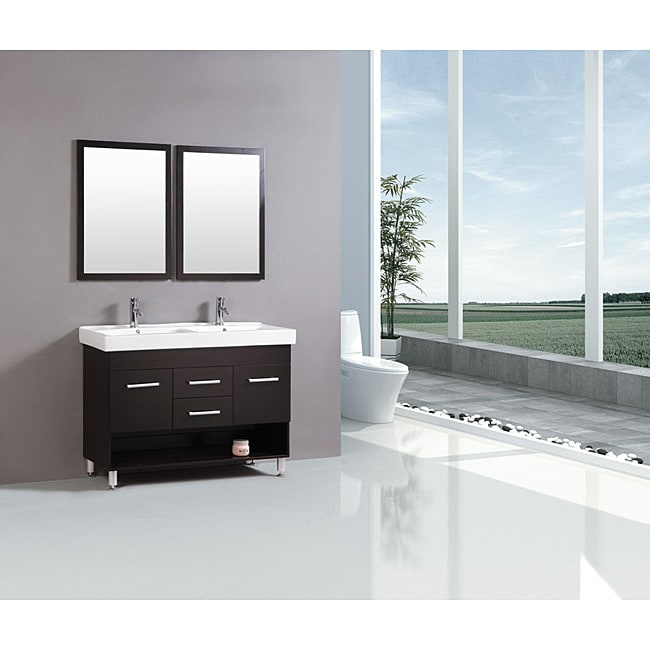 Kokols Modern 48 Inch Double Sink Vanity Free Shipping Today