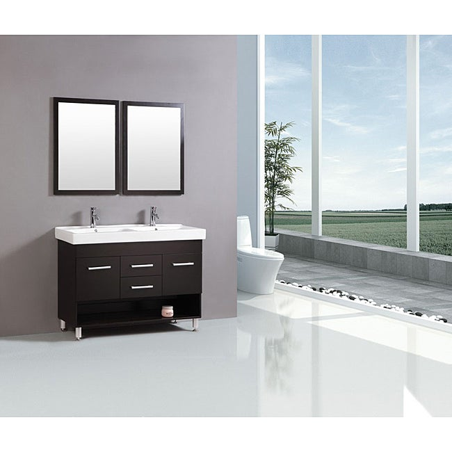Kokols modern 48 inch double sink vanity free shipping - 50 inch double sink bathroom vanity ...