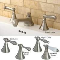 Satin Nickel Widespread Bathroom Faucet with Pop-Up Drain