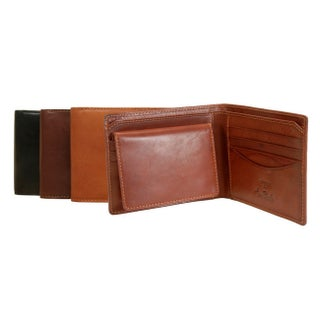 Tony Perotti Men's Italian Cow Leather Bifold Wallet with Removable ID Window Credit Card Case