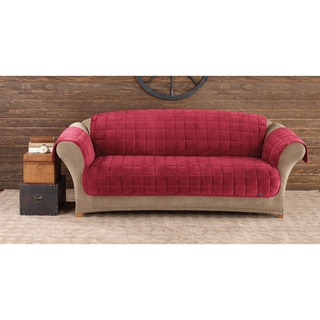 Sure Fit Red Deluxe Sofa Comfort Cover