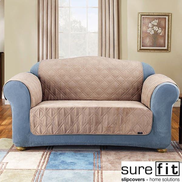 Pleasing Sure Fit Soft Suede Loveseat Pet Throw Beatyapartments Chair Design Images Beatyapartmentscom