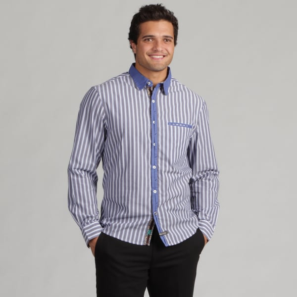 English Laundry Men's Small Stripe Woven Shirt