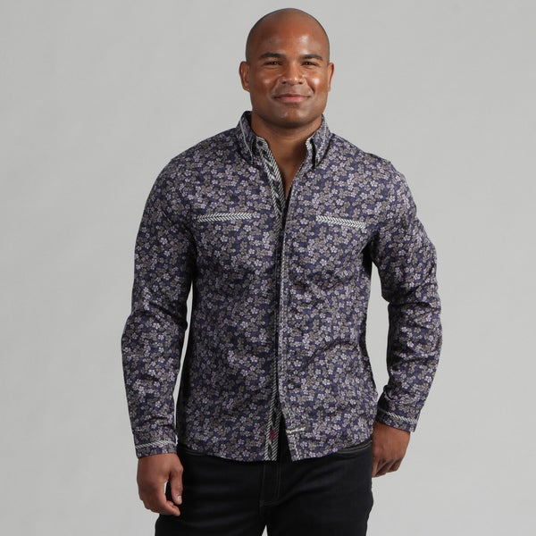 English Laundry Men's Floral Print Woven Shirt  FINAL SALE
