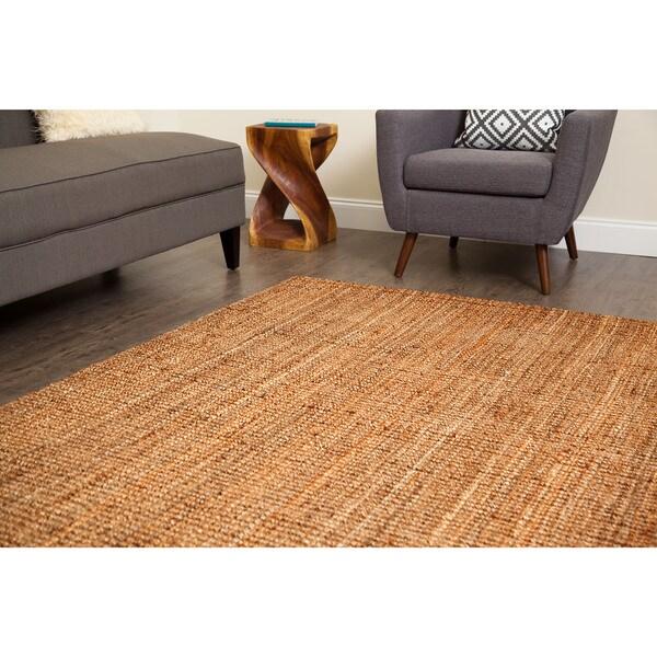Jani Sahara Boucle Weave Jute Rug (5' x 8')