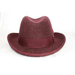 Ferrecci Men's Burgandy Godfather Hat - Thumbnail 1