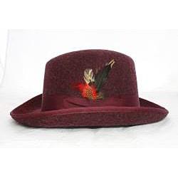 Ferrecci Men's Burgandy Godfather Hat - Thumbnail 2