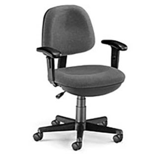 OFM Stain-resistant Lite-use Computer Task Chair with Adjustable Arms (Task Chairs - Grey)