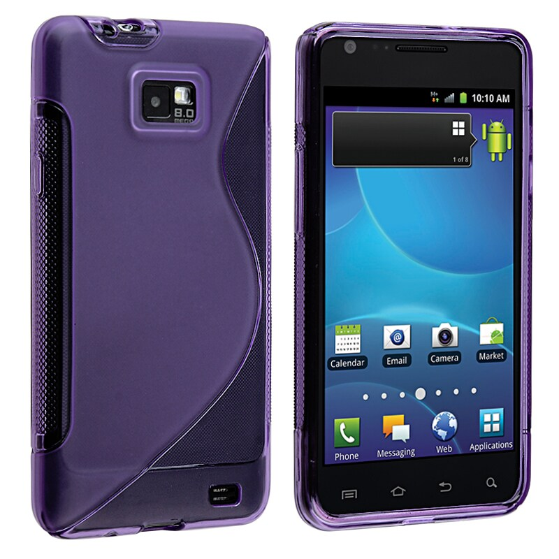 BasAcc Dark Purple S Shape TPU Case for Samsung Galaxy S II AT&T i777