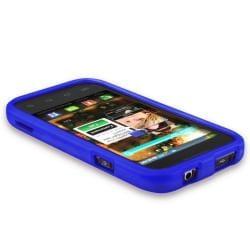 BasAcc Dark Blue Snap-on Rubber Coated Case for Samsung Fascinate i500