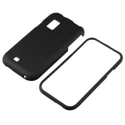 BasAcc Black Snap-on Rubber Coated Case for Samsung Fascinate i500 - Thumbnail 1