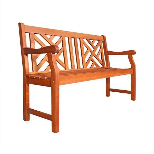 Astounding Shop Havenside Home Surfside 4 Foot Eucalyptus Wood Outdoor Ibusinesslaw Wood Chair Design Ideas Ibusinesslaworg