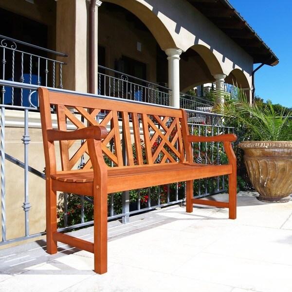 Atlantic Patio Furniture Reviews: Atlantic 4-foot Eucalyptus Wood Outdoor Bench