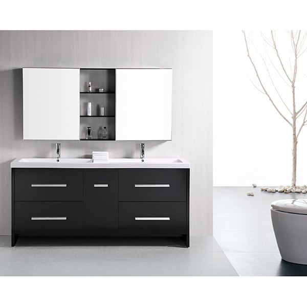 Shop Design Element Perfecta Modern Inch Doublesink Bathroom - 72 inch modern bathroom vanity