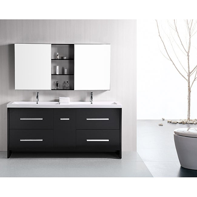 Design Element Perfecta Modern 72 Inch Doublesink Bathroom Vanity Set Free Shipping Today