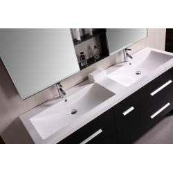 Design Element Perfecta Modern 72 Inch Doublesink Bathroom