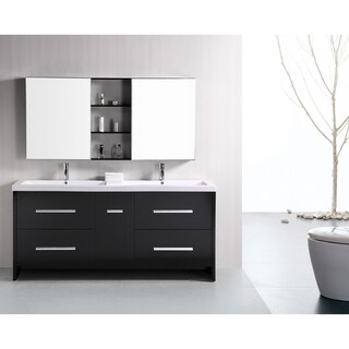 Design Element Perfecta Modern 72-inch Doublesink Bathroom Vanity Set
