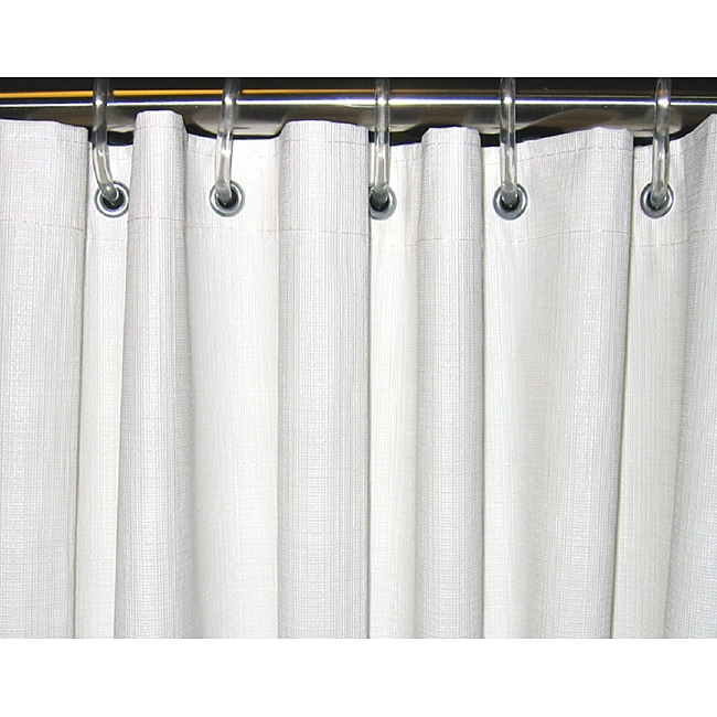 CSI Bathware 54x72 White Vinyl Shower Curtain Pack Of 10