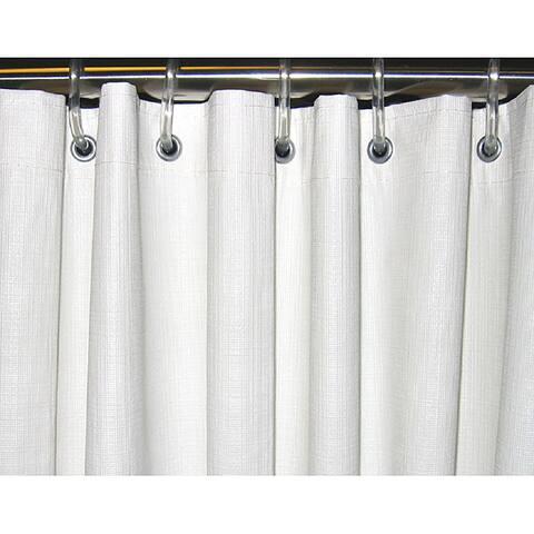 CSI Bathware 54x72 White Vinyl Shower Curtain (Pack of 10)