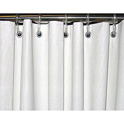 CSI Bathware 42x74 White Vinyl Shower Curtain (Pack of 10)