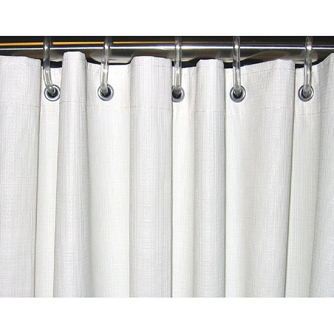 Shop CSI Bathware 54x74 White Vinyl Shower Curtain Pack Of 10