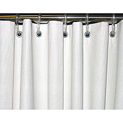 CSI Bathware 54x74 White Vinyl Shower Curtain (Pack of 10)