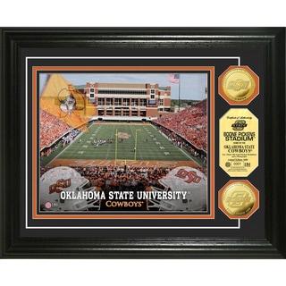 Oklahoma State University Stadium 24-karat Gold Coin Photo Mint